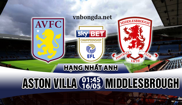 Link sopcast: Aston Villa vs Middlesbrough