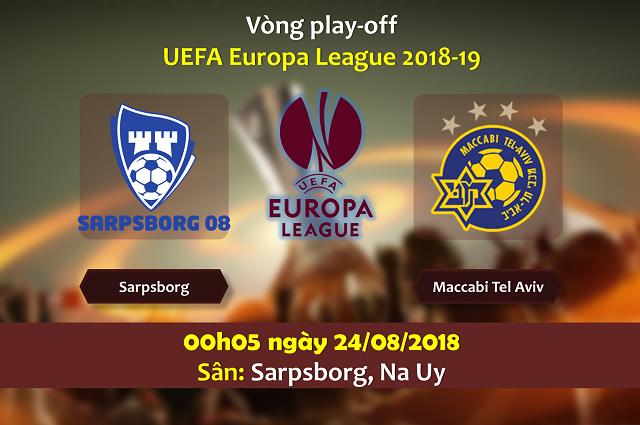 Nhận định chính xác Sarpsborg vs Maccabi Tel Aviv, 00h05 ngày 24/8: Europa League