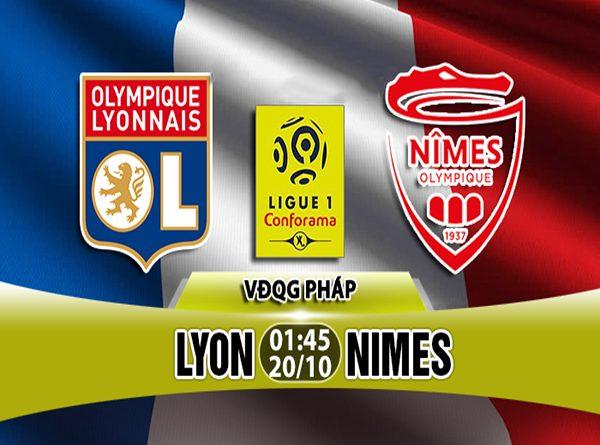 Nhận định Lyon vs Nimes, 01h45 ngày 20/10: Giải Vô Địch Pháp