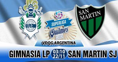 Link Sopcast Gimnasia vs San Martin, 3h10 ngày 22/11: VĐQG Argentina