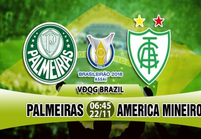 Link Sopcast Palmeiras vs America Mineiro, 06h45 ngày 22/11: VĐQG Brazil