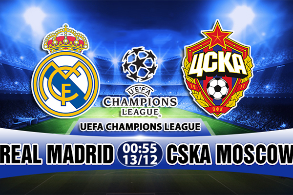 Link Sopcast Real Madrid vs CSKA Moscow