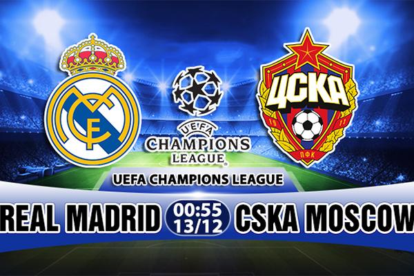 Link Sopcast Real Madrid vs CSKA Moscow