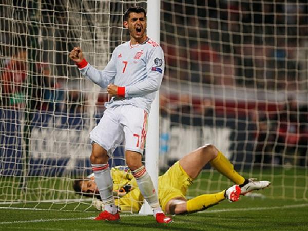 Morata mới ghi bàn cho Tây Ban Nha