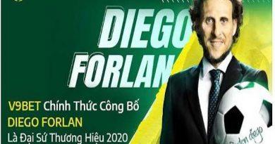 Diego Forlán chính thức trở thành đại sứ thương hiệu của V9BET