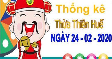 Thống kê XSTTH ngày 24/2/2020 – Thống kê xổ số Thừa Thiên Huế thứ 2