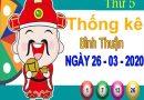 Thống kê XSBTH ngày 26/3/2020 – Thống kê KQXS Bình Thuận thứ 5