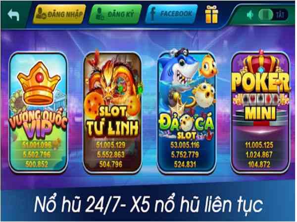 Game quay slot trò chơi đa dạng hấp dẫn