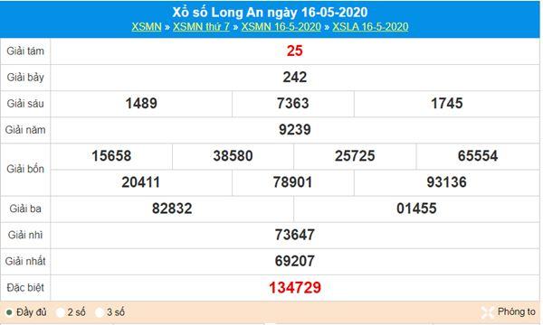 Soi cầu KQXS Long An 23/5/2020, chốt cầu lô số đẹp
