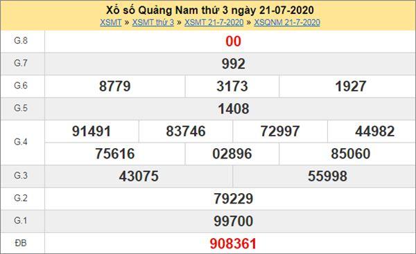 Soi cầu XSQNM 28/7/2020 chốt lô Quảng Nam thứ 3