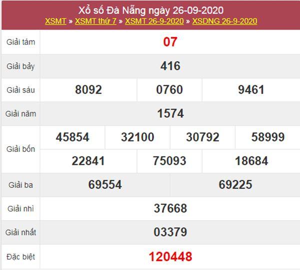 Nhận định KQXS Đà Nẵng 30/9/2020 thứ 4 chi tiết nhất