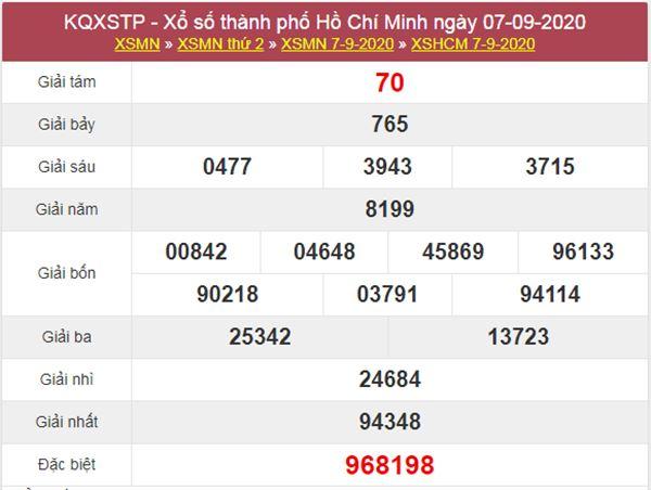 Soi cầu KQXS Hồ Chí Minh 12/9/2020 thứ 7 siêu chuẩn