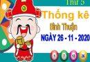 Thống kê XSBTH ngày 26/11/2020 – Thống kê KQXS Bình Thuận thứ 5