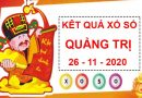Phân tích xổ số Quảng Trị thứ 5 ngày 26/11/2020