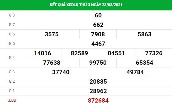 Soi cầu dự đoán XS Daklak Vip ngày 30/03/2021