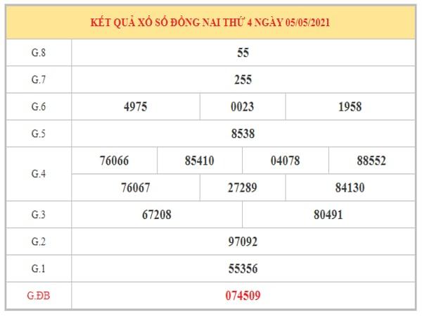 Thống kê KQXSDN ngày 12/5/2021 dựa trên kết quả kì trước